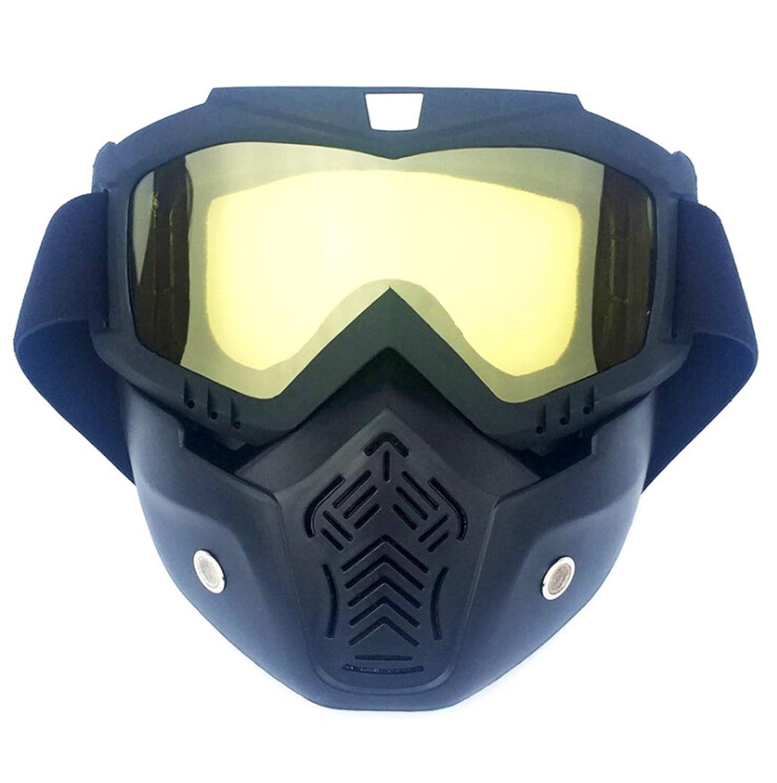 SonMo Nachtsichtbrille Schutzbrille Motorradbrille Sportbrille Snowboardbrille Skibrille Radbrille PC Sportbrille Radfahren Blendschutz mit UV Schutz Winddicht