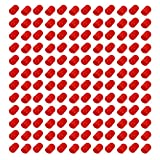 uxcell 200pcs 7.5MM Dia Red Rubber Thread Round Cabinet Chair Leg Insert Cover Protector