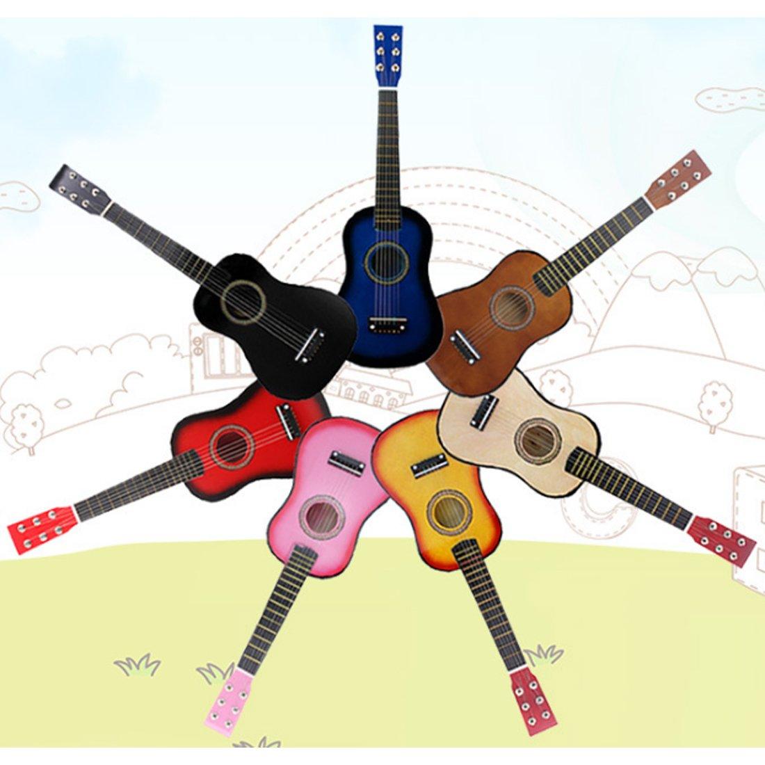 Likecom 23 Pouces Simulation 6 Cordes Guitare Kits de D/émarrage pour Guitare D/ébutant Enfant-Bleu