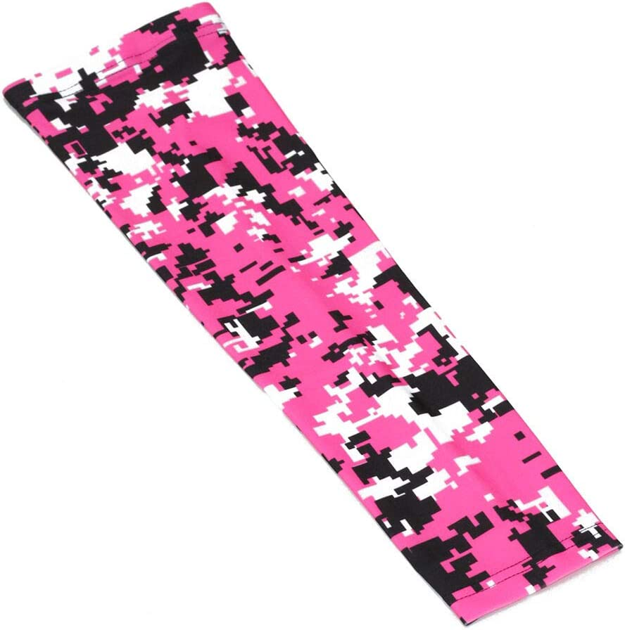 1 Sleeve OOIN Football Baseball Camo Compression Arm Sleeve Youth Adult Sizes for Basketball Cycling Tennis