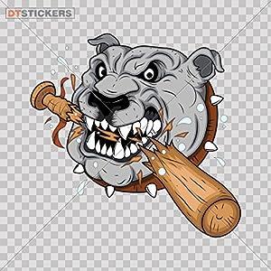 Decal Stickers Dog Guard Garage Door Laptope Motorbike Boat bulldog team cut out RKXX5