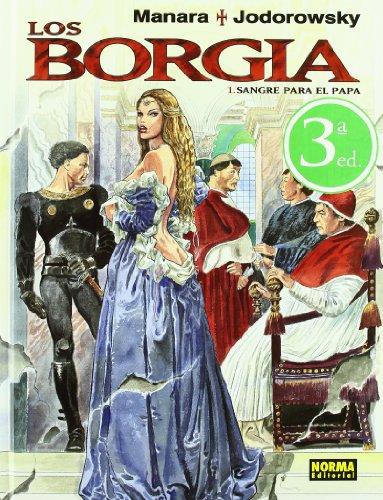 LOS BORGIA 1  SANGRE PARA EL (C. MANARA 22) (MANARA COLOR) por Milo Manara,Alejandro Jodorowsky