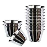 Happy Friends - Pudding Moulds - Stainless Steel - Set of 12 - Ø 9 cm