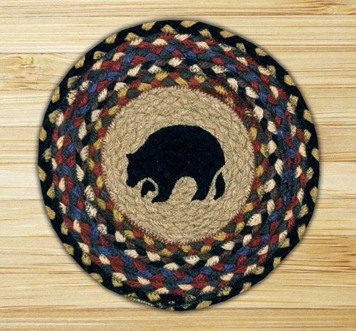 Braided Round Trivets - Earth Rugs 80-043BB Trivet, 10-Inch, Burgundy/Blue/Gray