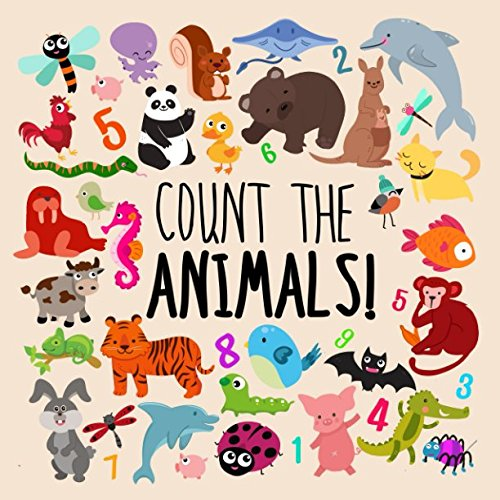 Count the Animals!: A Fun Picture Puzzle Book for 2-5 Year Olds -