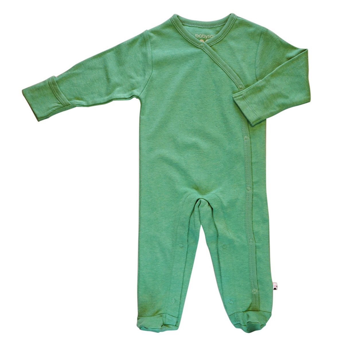 Babysoy Organic Long Sleeve Solid Footie/Coverall 600S
