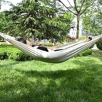 Here & There hamaca suspendida Brasil Comfort Premium doble hamaca para jardín Camping viaje balancín cama suspendida exterior/interior: Amazon.es: Jardín