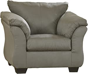 Ashley Furniture Signature Design - Darcy Chair with Loose Seat Cushion - Ultra Soft Upholstery - Contemporary - Cobblestone