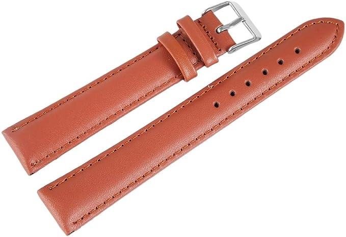 Uhrenarmband Kalbsleder Ersatz Uhrenarmbänder Silber Dornschließe mit Werkzeug