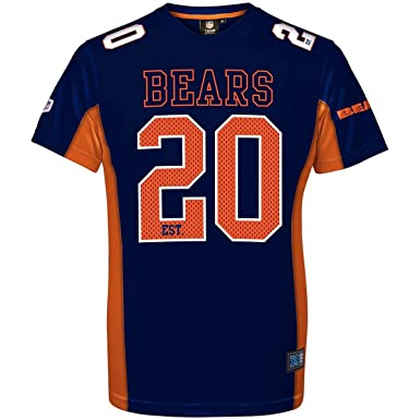 a31ab95f3 Majestic Athletic Chicago Bears NFL Moro Poly Mesh Jersey Tee T-Shirt Trikot