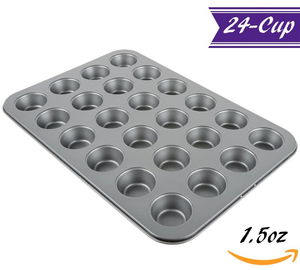 カーボンスチールMuffin Pans 24-Cup Mini グレー B079QHH21R   24-Cup Mini