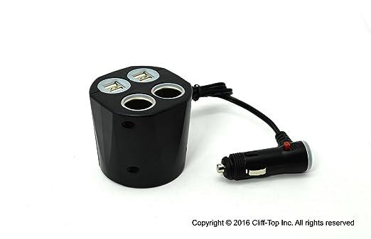 9 opinioni per Cliff-Top 6.6Amp 4 vie USB e sigaretta Presa a tazza Caricabatteria da auto