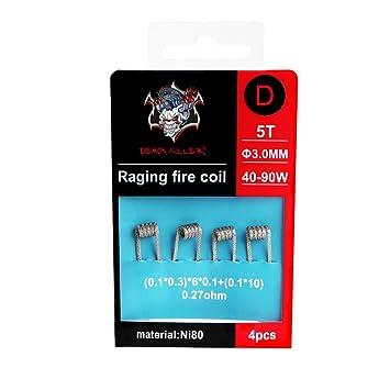 Demon Killer vorkompilierte Spulen NI80 Draht Raging Fire coil- 4 ...