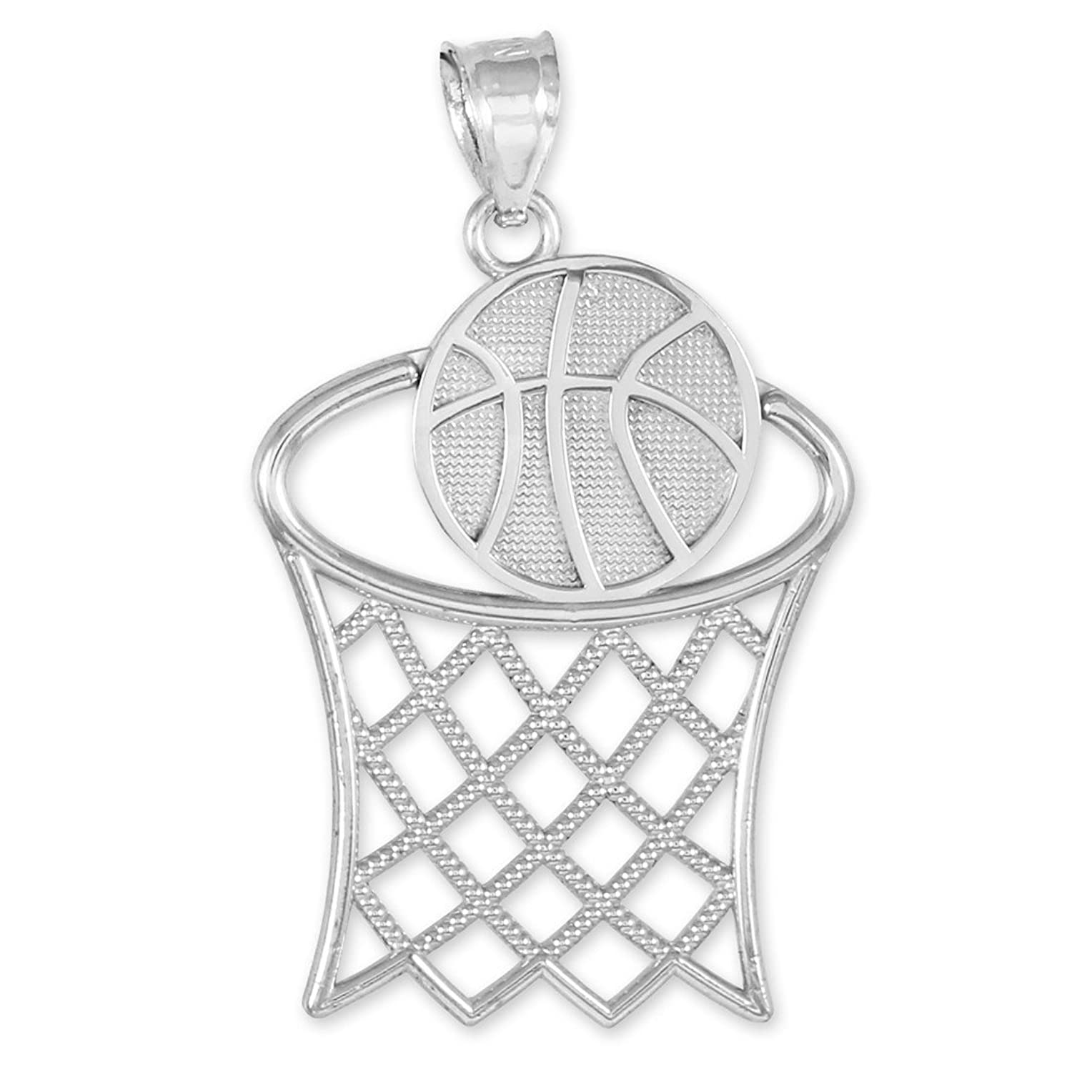 925 sterling silver basketball hoop sports charm pendant amazon 925 sterling silver basketball hoop sports charm pendant amazon jewelry mozeypictures Images