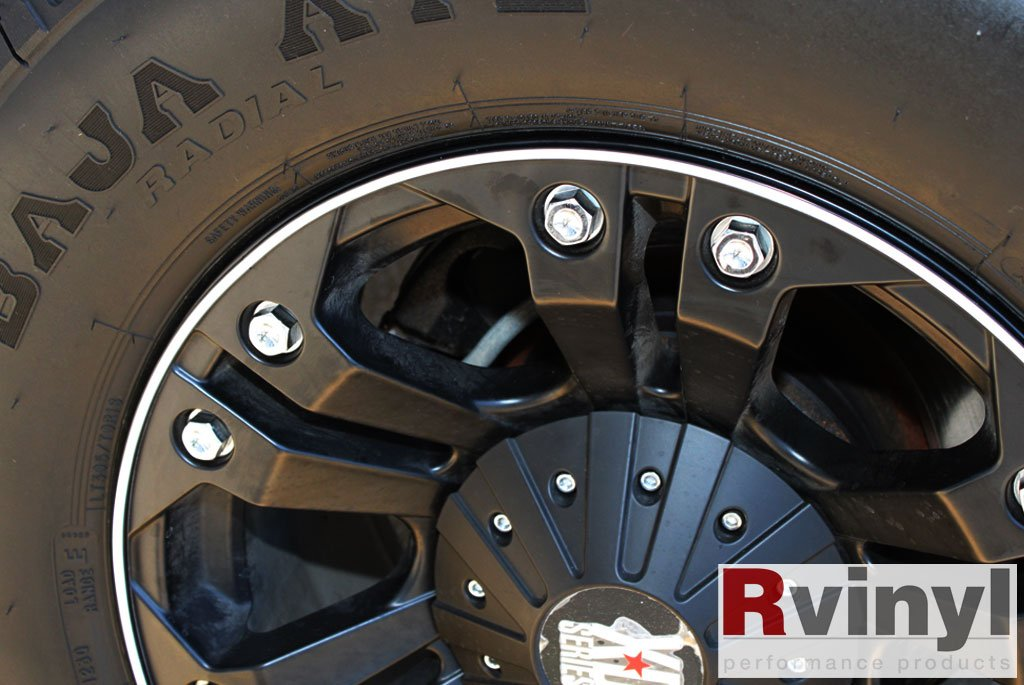 Wheel Bands Rim Protector - Pink W/ Black Track by Wheel Bands (Image #9)