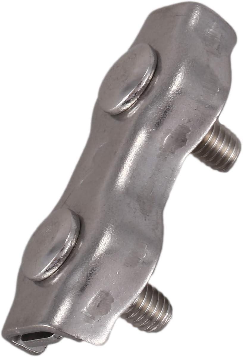 Vaorwne 10 Pcs 3Mm Duplex Clips En Acier Inoxydable Cable En Corde De Cable Corde Poign/ées Pinces /étrier