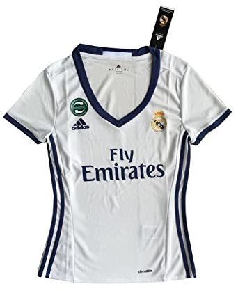 Women's Real Madrid 2016-2017 Home Soccer Jersey White (Women Small)