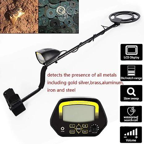 YiWon Detector de Metales Digital con Pantalla LCD, Detector de Metales Profesional Todo Metal y