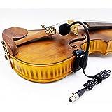 4/4 acoustic violin fiddle gooseneck clip condenser microphone for shure instrument mic body belt-pack transmitter…
