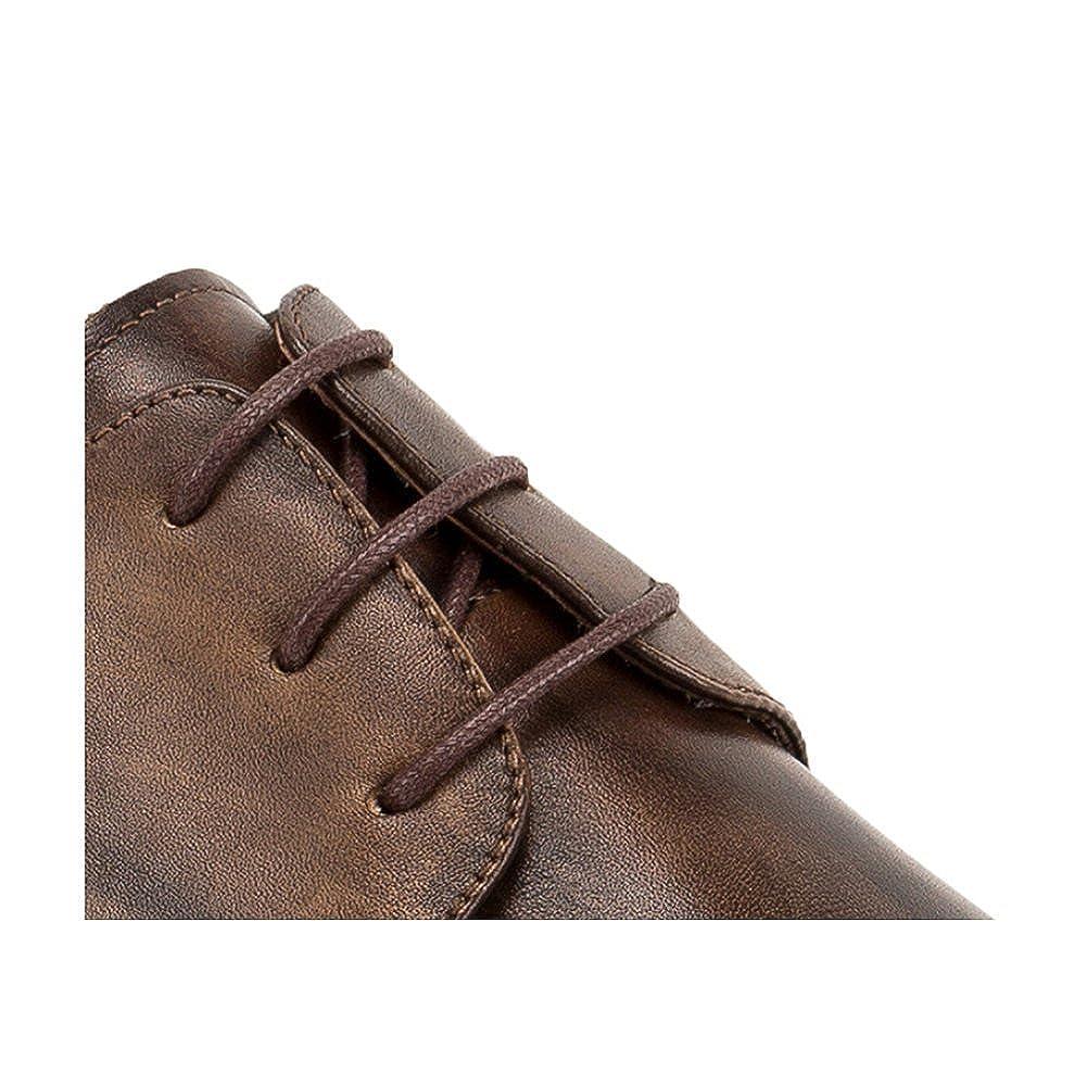 22a6e422 LYZGF Hombre Caballero Negocios Casual Moda Retro Boda Cordón Juventud  Zapatos De Cuero: Amazon.es: Zapatos y complementos