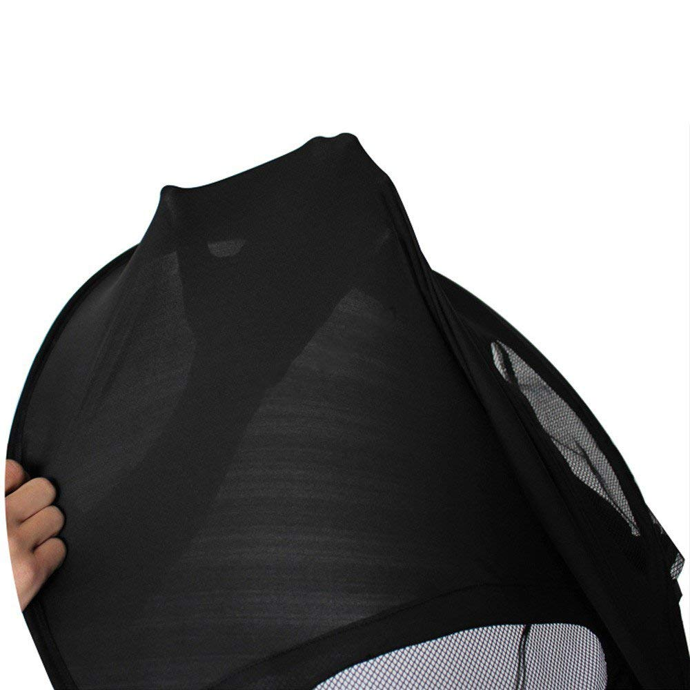 ZLMI Version of Baby Stroller Sun Visor Carriage Sun Shade Canopy Cover for Prams Stroller Accessories Car Seat Buggy Pushchair Cap Sun Hood Black by ZLMI (Image #6)