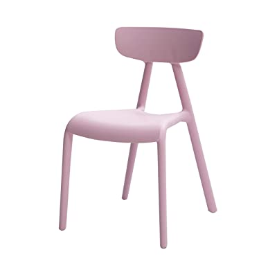 Basics, Pink, Stackable Kids Chairs, Premium Plastic, 2-Pack: Kitchen & Dining