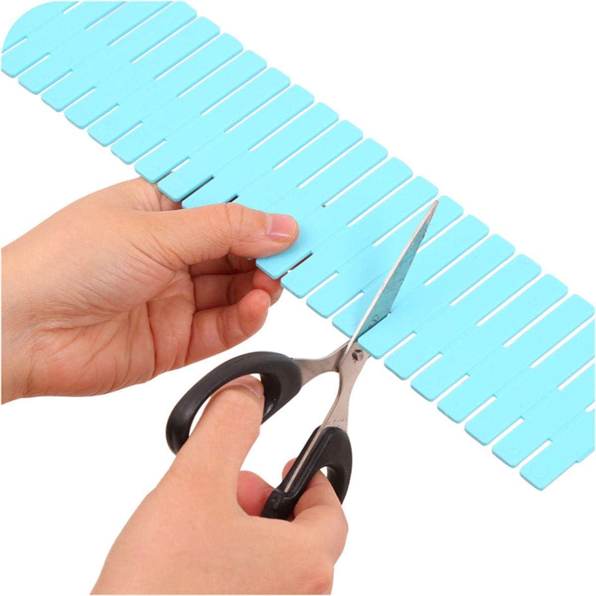 DERCLIVE 4Pcs Plastic Adjustable Drawer Dividers Drawer Make Up Organizer Separators for Office School Supplies,Kitchen Tools