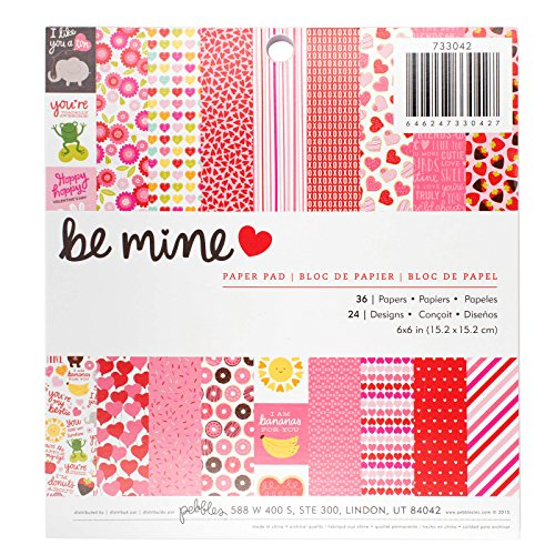 Pebbles Be Mine 6 x 6 Inch 36 Sheets Paper Pad