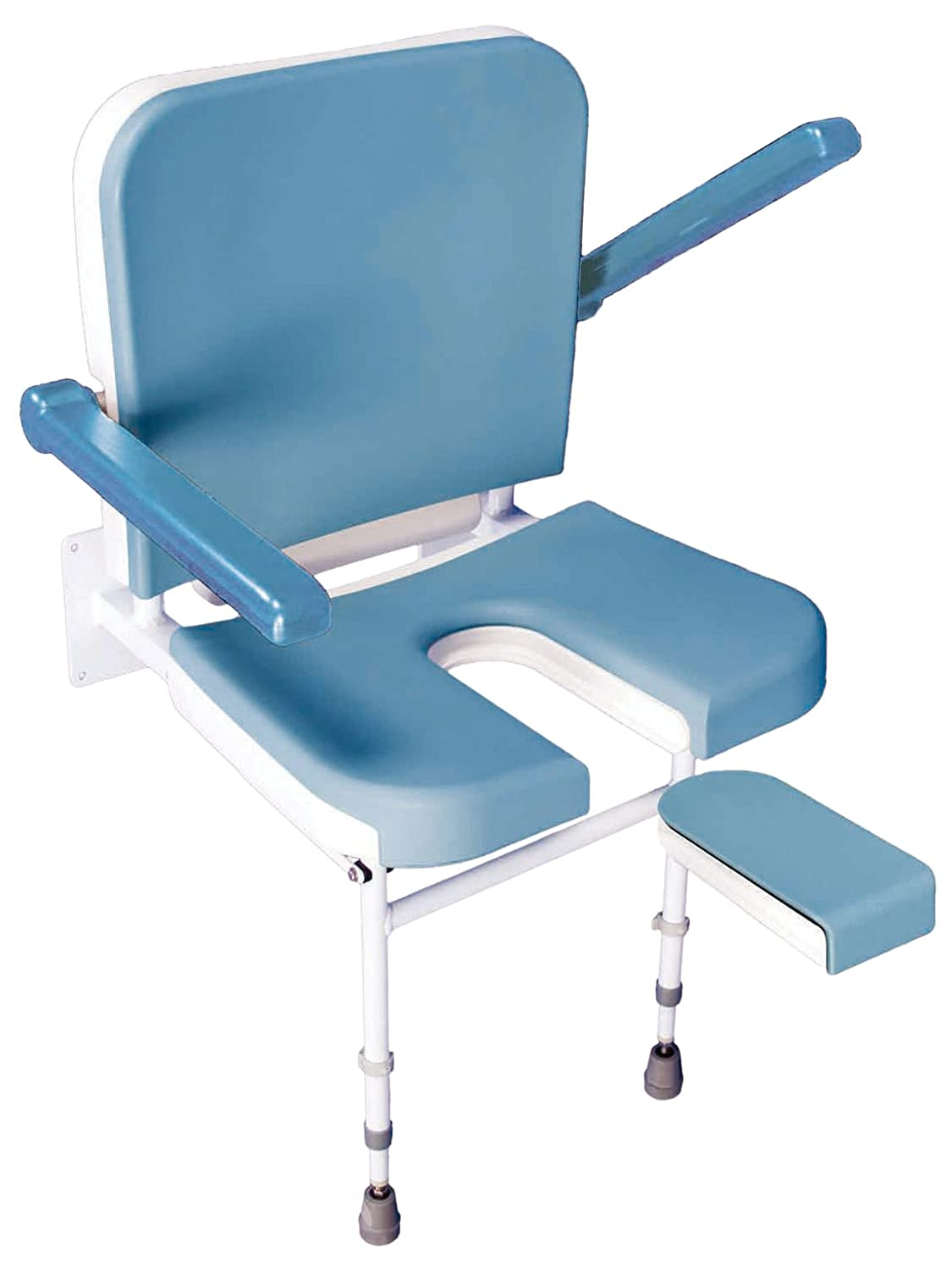 Amazon.com: Solo Deluxe U Shape Padded Fold Up Shower Seat with Back ...