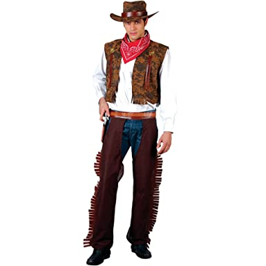 08086464b0a Mens Western Cowboy Costume for Cowboy and Indians Fancy Dress Up Costume  Medium  Amazon.co.uk  Clothing