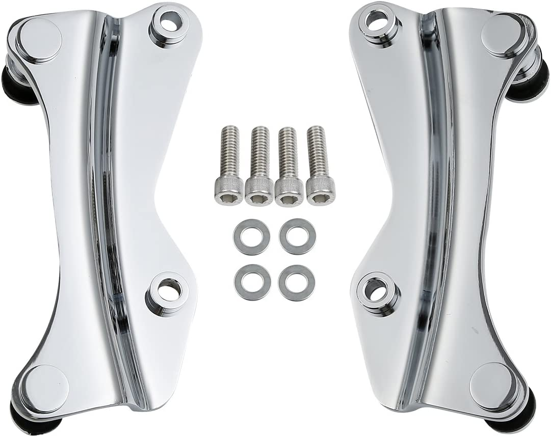 XMT-MOTOR Kit de Mat/ériel daccueil 4 Points Adapt/é pour Harley Touring 2014-2020 Chrome