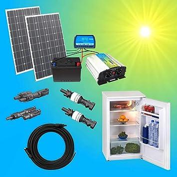 Komplette Solaranlage 230v TÜv 100w Solarmodul Spannungswandler Gartenhaus Watt Erneuerbare Energie