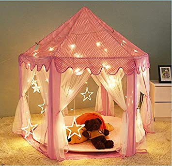 DalosDream Kids Indoor Princess Castle Play Tents Pink & DalosDream Kids Indoor Princess Castle Play Tents Pink Play ...