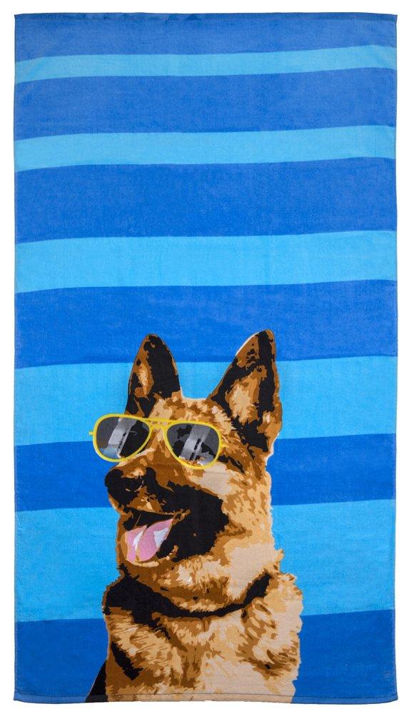 Revere Mills Funny Beach Towel German Shepherd N//A