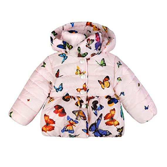 Forart Baby Girls Winter Warm Coat Butterfly Pattern Hoodie Down