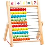 TOYANDONA Kids Math Toys Set Abacus Toy Counting Toys Montessori Math Toys Educational Addition Subtraction Toys for Early Childhood Kids Toddler