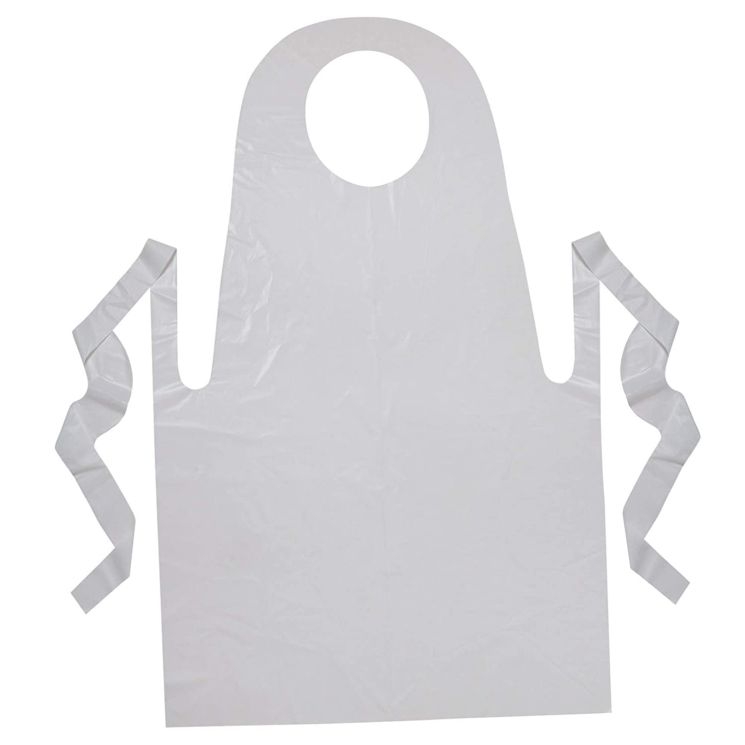 White 100 Count 24 x 35 24 x 35 Creativity Street PAC91240 Youth Disposable Aprons