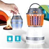 FREDI Camping Lights with Bug Zapper Mosquito Repellent Function,a IP67 Waterproof USB Rechargeable Camping Lantern for Hiking,Camping,Backpacking,Fishing,Emergency