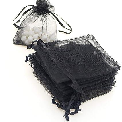 Xelparucoutdoor 100 bolsas de organza de 9 x 12 cm, bolsas ...