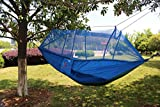 EverKing Hammock with Mosquito Net, Lightweight Nylon Portable Camping Hammock,Best Parachute Single or Double Hammock for Backpacking Camping Hiking Travel Beach Yard