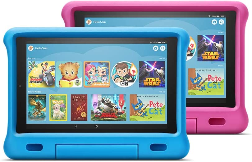"Fire HD 10 Kids Edition Tablet 2-Pack, 10"" HD Display, 32 GB, Kid-Proof Case - Blue/Pink"