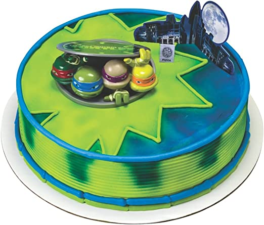 Magnificent Amazon Com Teenage Mutant Ninja Turtle Cake Topper Decoset Funny Birthday Cards Online Fluifree Goldxyz
