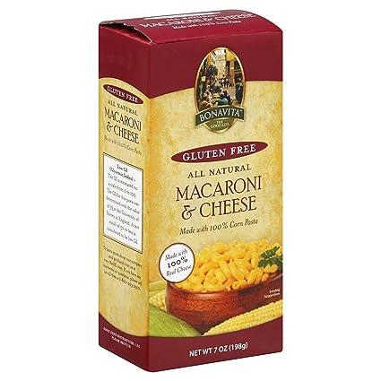 Bonavita sin gluten Macaroni y Queso, 7 onzas (Paquete de 12 ...