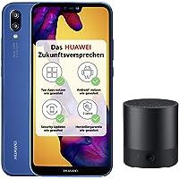 Huawei P20 lite Smartphone (5.84 Zoll, 64GB interner Speicher, 4GB RAM, Android 8.0) Dunkel Blau + gratis Intenso 16 GB Speicherkarte - Deutsche Version + Bluetooth MiniSpeaker CM510, schwarz