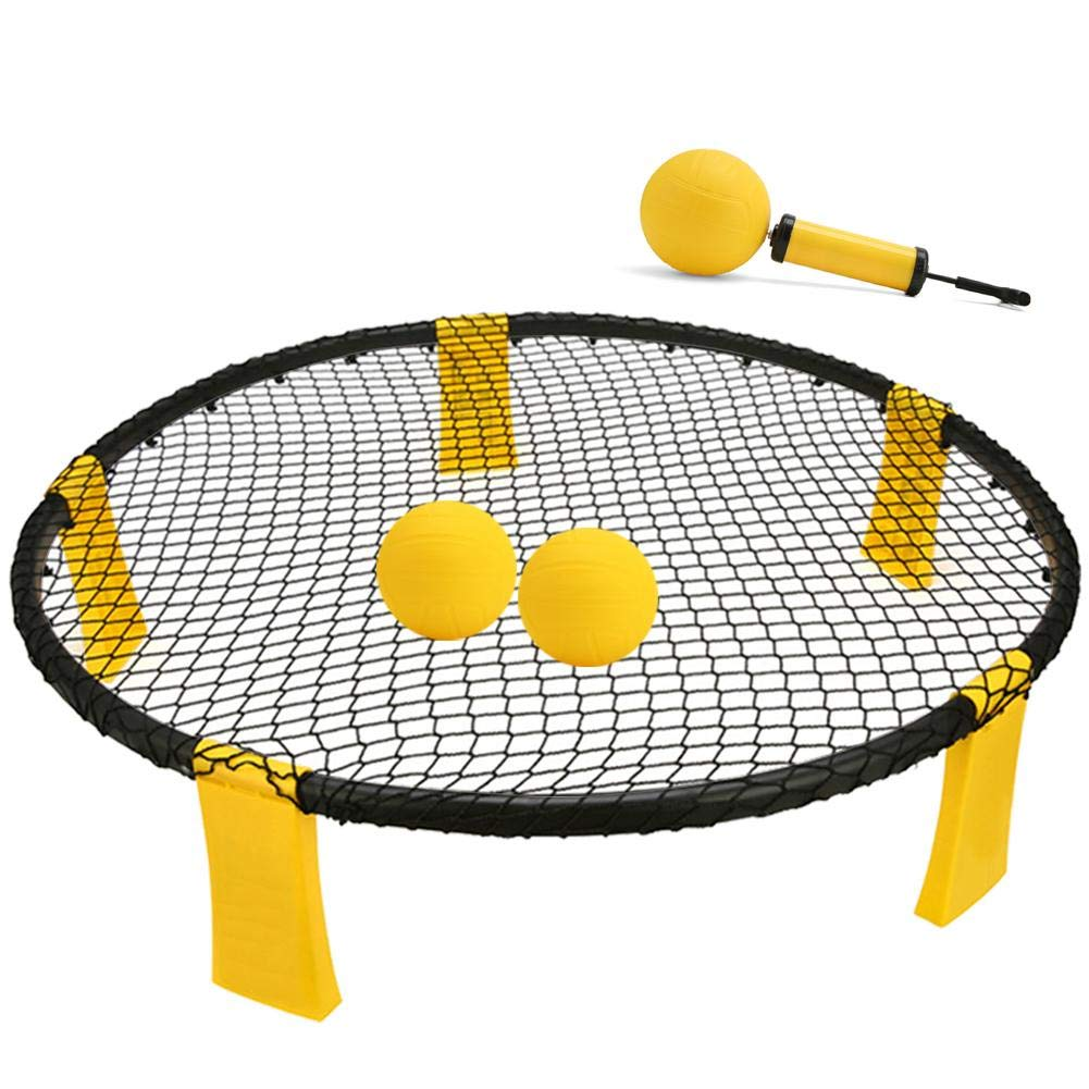 Reatzhen Mini Ball Games Set - Played Outdoors, Indoors, Lawn, Yard, Beach, Tailgate, Park - Includes 3 Ball, Drawstring Bag, and Rule Book - Game for Boys, Girls, Teens, Adults, Family by Reatzhen