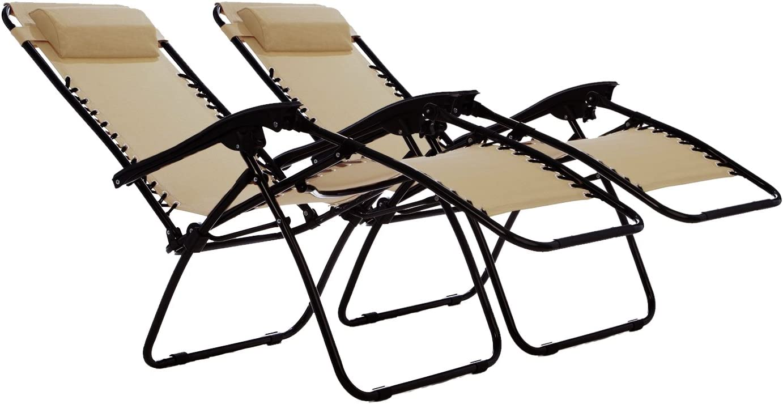 Odaof Zero Gravity Chair Biege Set of 2