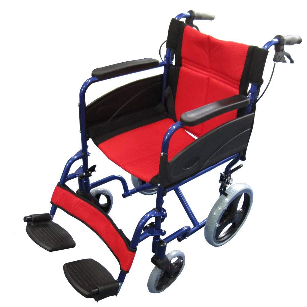 【非課税】Nice Way2(ナイスウェイ) (ブルー) 折りたたみ式 車椅子【座面幅約46cm】【ゆったりサイズ】【簡易式】【NW976LABJ】【介護介助用】【介助ブレーキ付き】  ブルー B01ER8BSQA