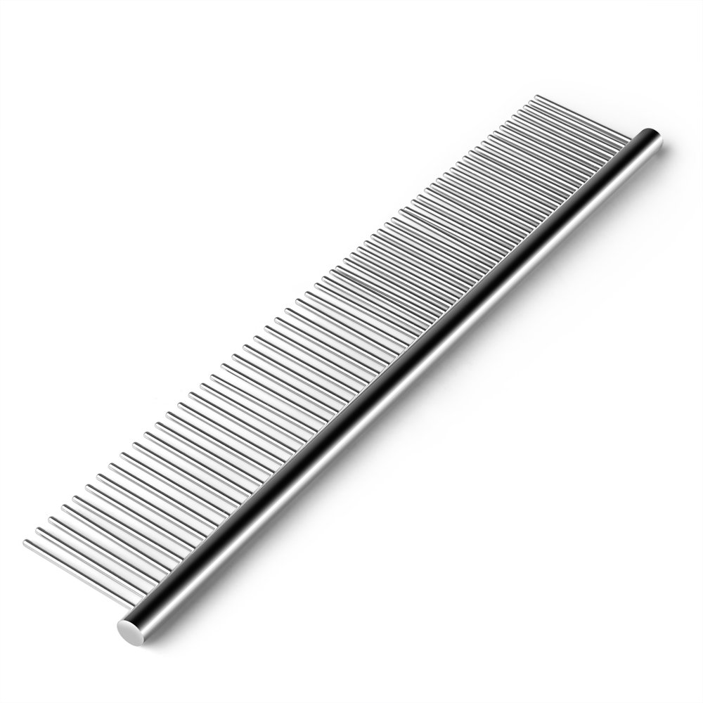 wonderflowers Pet Grooming Comb Stainless Steel Cats Dogs Hair Trimmer Brush Accessory Tool