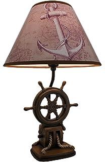 Vintage Direct CL3404 Boat Motor Table Lamp, Aged Walnut ...