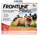 Frontline Plus for Dogs Small Dog (5-22 pounds) Flea and Tick Treatment, 3 Doses